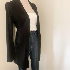 dressy thing pockets cardigan black